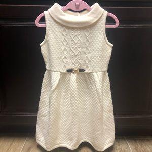 NWT size 5 Girls Cream Knit Dress